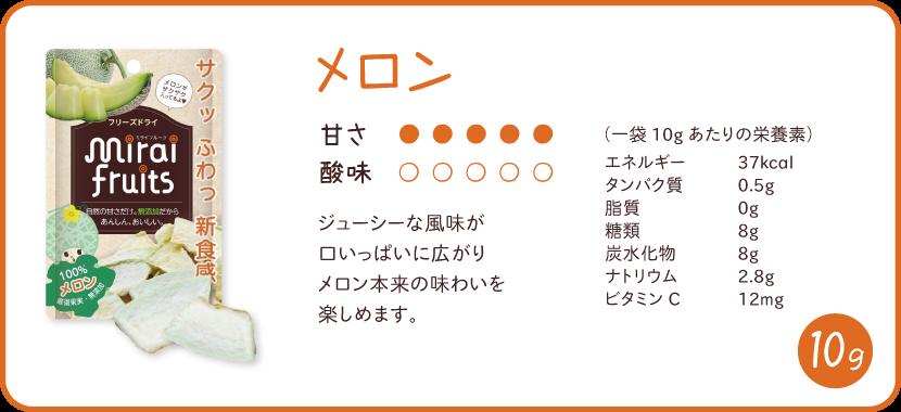 ミライフルーツ メロンの特徴